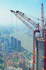 Fototapete - Shanghai in developing