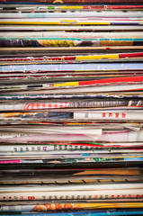 Magazines close-up