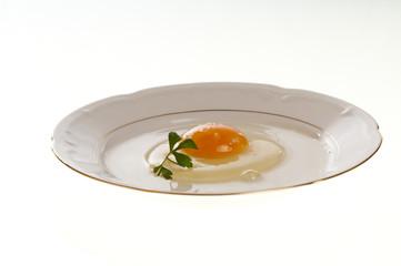Huevo plato perejil