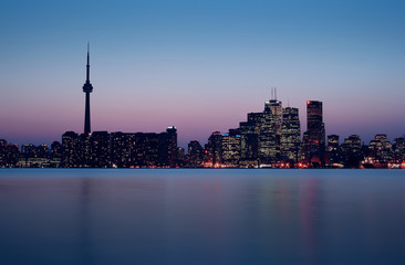 Toronto Skyline right after Sunset