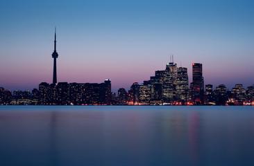 Toronto Skyline right after Sunset