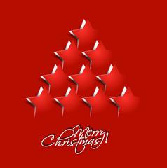 star christmas tree, design, vector illustration.