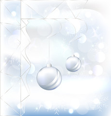 ball christmas with glass, Vector
