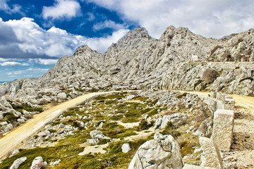 Velebit mountain road serpentine near Tulove grede