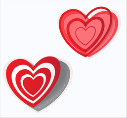 Valentine's  day sticker heart. Vector