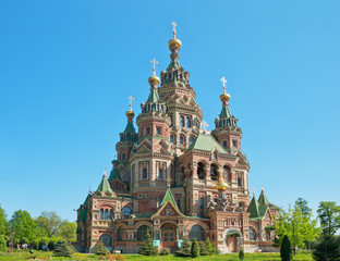 St. Peter and Paul's church in the Russian city of Peterhof
