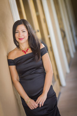 Attractive Hispanic Woman Portrait Outside