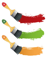 Set of colorful Paint brush