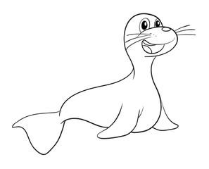 a seal sketch
