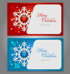 Christmas gift Cards with gems