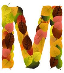 Buchstabe aus Blättern - M