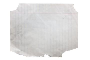 Damaged blank paper