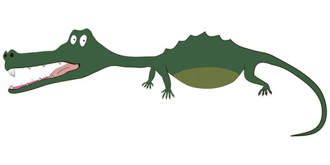 Illustration of funny crocodile