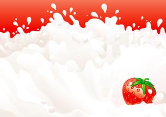 milk with strawberries