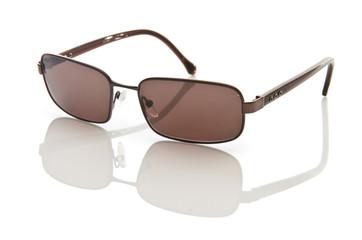 Stylish sunglasses isolated on the white