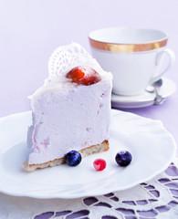 Pink fruit pastry biscuit.Dessert