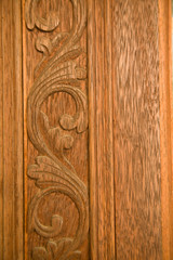 Pattern Thai art carving on wood