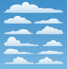 Printed roller blinds Heaven vector clouds in the sky