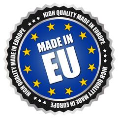 "Button ""Made in Europe"" - EU - Blau/Gelb"