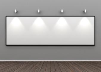 beleuchtetes Holzrahmen Panoramabild