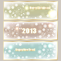 Vector Winter Holiday Banners