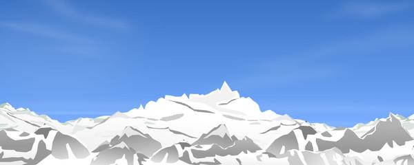 Berge Blauer Himmel mit Schnee