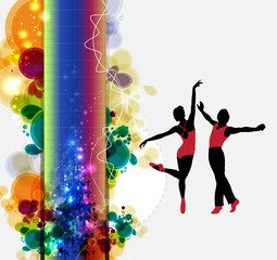 Ballet. Dancing illustration