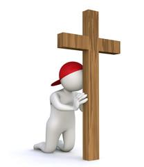 3D Man praying