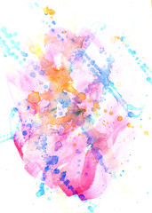 spot  watercolor abstract