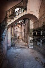 Portal with stair in Havana, Cuba
