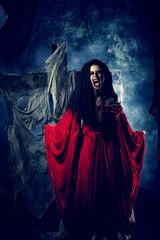 woman bloody