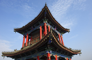 chinese unique traditional pavilion building