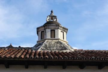 Cúpula en techo de casa colonial en Antigua Guatemala