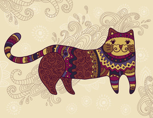 Fantasy stylized cat