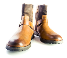 New winter leather boots