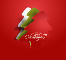 peel of christmas tree, design, vector illustration.