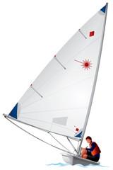 Sailboat Laser dinghy