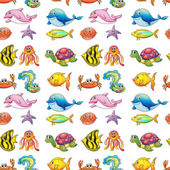 various sea animals