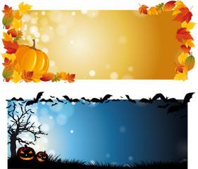 Halloween Autmn Banner