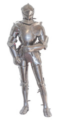 A vintage european full body armor suit. isolated