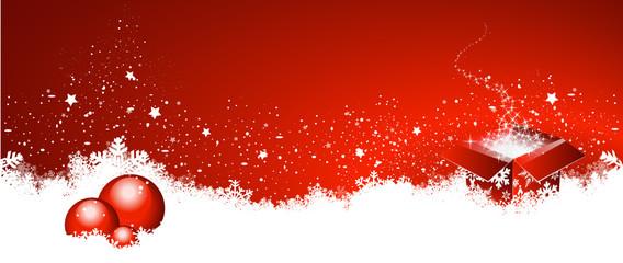 Wall Mural - Weihnachten, Hintergrund, Geschenk, Kristbaumkugeln