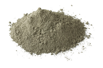 Pile of dry grey portland cement