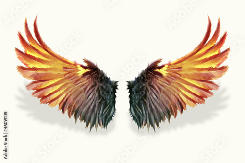 Fire Wings Vector | www.imgkid.com - The Image Kid Has It!