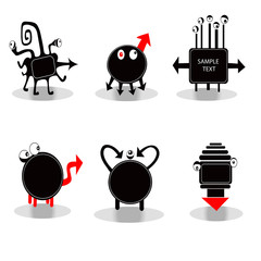 Funny icons - monsters