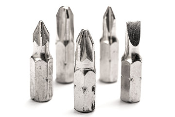 Used screwdriver bits