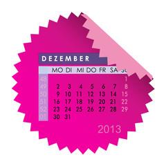 Monatskalender Dezember 2013