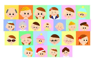 人々の表情