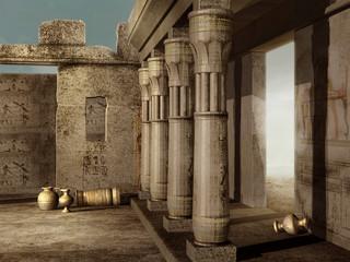 Starożytne egipskie ruiny