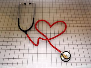 stethoscope heart shape