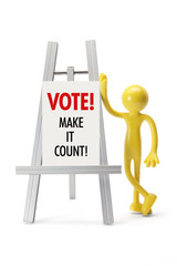 Miniature Figure with Voting Concept